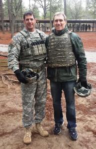 LTC JC Glick and Dov Seidman at Fort Jackson, South Carolina